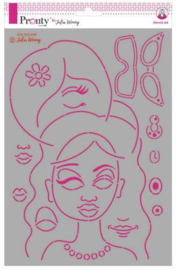 Pronty Stencil Journal Faces 470.765.998 Julia Woning