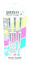 Nuvo brush script pens - pretty pastels 112N