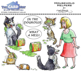 The Card Hut Household Helpers Clear Stamps (MBPHH)
