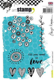 Carabelle cling stamp A6 all you need is love  SA60294E
