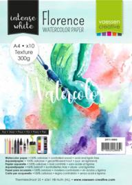 Florence • Aquarelpapier texture Intense White A4 10pcs 2911-4003
