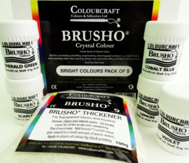 Brusho Bright Colours Pack - 5 x 15g