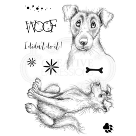 Pink Ink Designs Jeeves & Woofster A5 Clear Stamp Set PI101