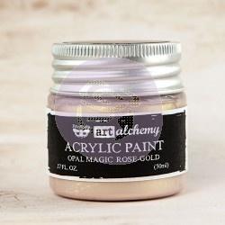 Finnabair Art Alchemy Acrylic Paint Opal Magic Rose Gold (963620)
