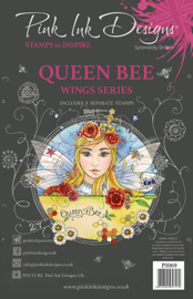Pink Ink Designs Queen Bee A5 Clear Stamp P1069