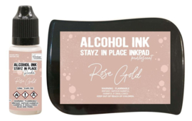 Couture Creations Stayz in Place Alcohol Ink Pearlescent Rose Gold Pad+Reinker (CO728168)