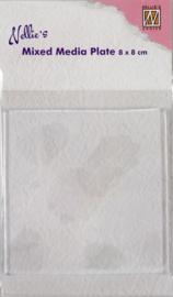 Nellies Choice Gelplate vierkant 80x80mm NMMP002