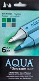 Spectrum Noir Markers Aqua 6 in a suit - Landscape (Landscape)