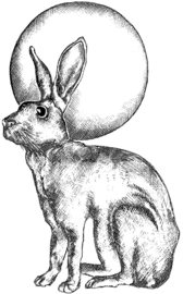 Crafty Individuals Hare and Moon Unmounted Rubber Stamps (CI-508)