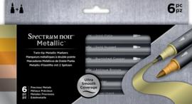 Spectrum Noir Metallic Markers (6pk) - Precious Metals SPECN-MM-MET6