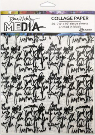 "Dina Wakley MEdia Collage Paper Just Words 20vl MDA74618 Dina Wakley 7 ½""x10"""