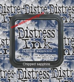Distress Ink Pad Chipped Sapphire TIM27119