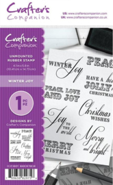 Crafter's Companion A6 Not Mounted Rubber Stamp - Winter Joy
