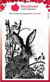 Woodware • Clear singles lino cut Hare in the Brambles  JGS743