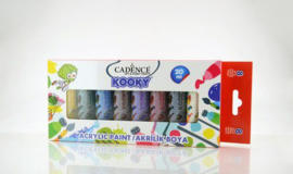 Cadence Kooky acrylverfset 20ml 8 st 11 005 0000 SET5 8x20ML