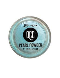 QuickCure Clay Pearl Powders Turquoise, 0.25oz - QCP71655