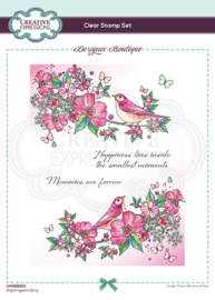 Creative Expressions Designer Boutique Collection Nightingale's Song A5 Clear Stamp UMSDB010