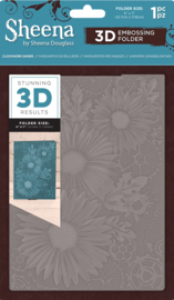 "Sheena Douglass 5""x7"" 3D-embossing folder - Clockwork Daisies (Uurwerk Madeliefjes)"