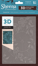 "Sheena Douglass 5""x7"" 3D-embossing folder - Trailing Time"