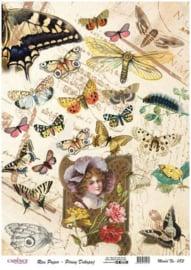Cadence rijstpapier Vintage - vlinders Model No: 083