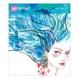 Jane Davenport Tresses Art Stencils (2pcs) (JD-016)