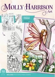 Molly Harrison Clearstamp - Marta's Garden