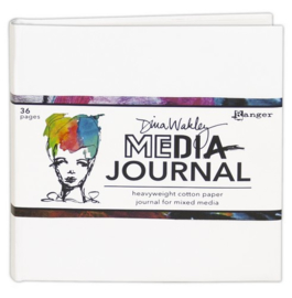 Ranger Media 6x6 White Journal - Heavyweight Watercolor MDJ61106 Dina Wakley