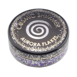 Cosmic Shimmer Aurora Flakes Frosted Violet 50ml