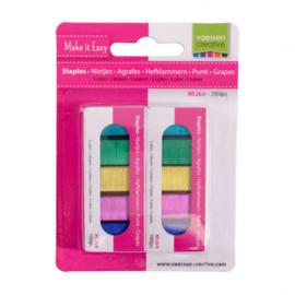 Vaessen Creative • Nietjes 5 kleuren 2000pcs