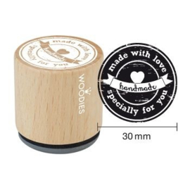 Woodies Made with love specially for you Rubber Stamp (WE5005)