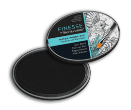 Spectrum Noir ovale Inktkussen - Finesse Water-proof - Noir Black
