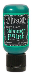 Ranger Dylusions Shimmer Paint Flip Cap Bottle - Polished Jade DYU74441 Dyan Reaveley