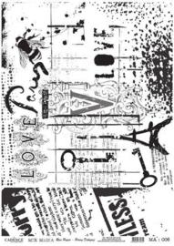 Cadence rijstpapier love - Paris - zwart MA : 006
