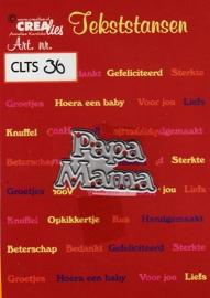Crealies Tekststans - papa mama CLTS36