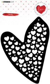 Studio Light Mask Stencil Filled With love nr.56 MASKFWL56 132x170mm