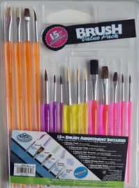 Assorted Artists Brushes - Pack of 15 BR15ASS