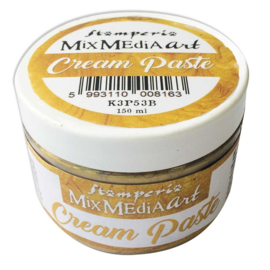 Stamperia Cream Paste Metallic Gold (150ml) (K3P53B)