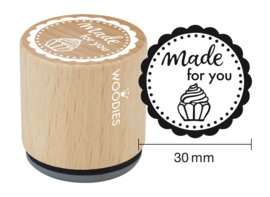Woodies Made for you Rubber Stamp (WE5009)