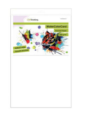 CraftEmotions WaterColorCard - briljant wit 10 vl 32 x 46cm - 350 gr