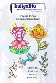 IndigoBlu Faerie Flora A6 Rubber Stamps (IND0731)