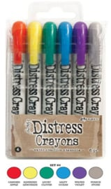 Distress Crayons set 4 TDBK51749