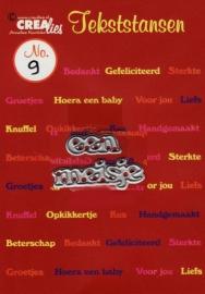 Crealies tekststans - een meisje (NL)CLTS09