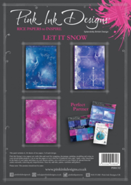 Pink ink rice paper Let it snow PIRIC02 A4
