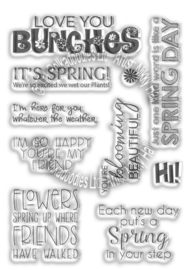 Polkadoodles Spring Wishes Sentiments Clear Stamps (PD8043)