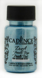 Cadence Dora metallic verf Aegean - blauw 01 011 0166 0050 50 ml