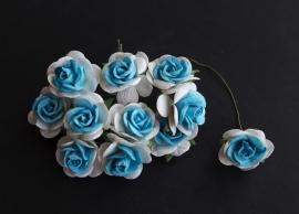 Roos 2 cm blauw