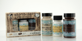 Cadence Very Chalky Home Decor set Zandbruin - bruin 01 002 0004 909050 90+90+50 ml