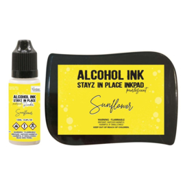 Couture Creations Stayz in Place Alcohol Ink Pearlescent Sunflower Pad+Reinker (CO728179)