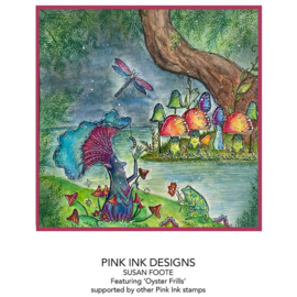 Pink Ink Designs Oyster Frills A6 Clear Stamp PI117
