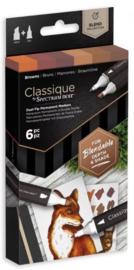 Spectrum Noir Classique (6 stuks) - Browns
